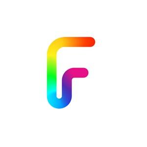 彩色字母F矢量logo图标素材下载