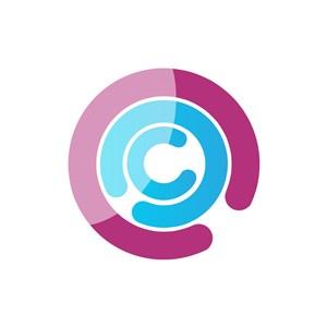彩色字母C矢量logo元素素材下载