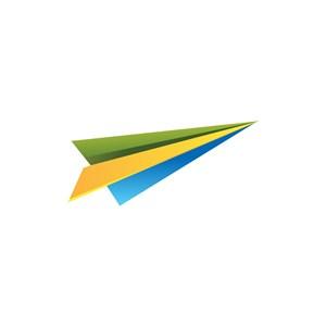 网络科技-彩色纸飞机矢量logo图标素材下载