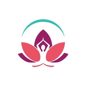 瑜伽行业-彩色瑜伽矢量logo图标素材下载