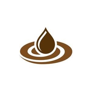 餐饮行业-咖啡水滴矢量logo图标素材