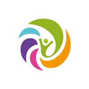 彩色圓形人物矢量logo圖標素材下載