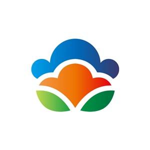 餐饮行业-彩色叶子餐饮矢量logo图标素材下载
