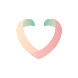 彩色心形矢量logo图标素材下载