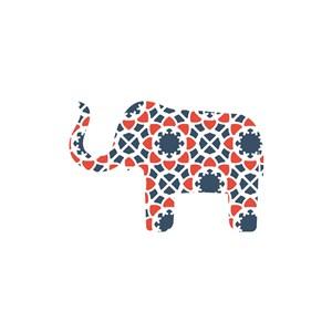 彩色小象矢量logo图标素材下载