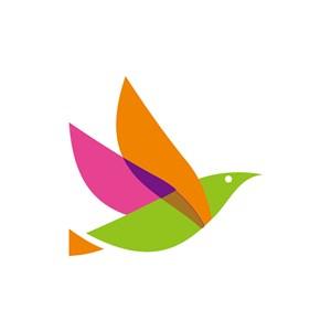 彩色小鸟矢量logo图标素材下载