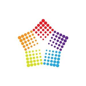 彩色五角星矢量logo图标素材下载