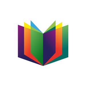 彩色图书矢量logo图标素材下载