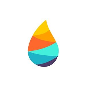 彩色水滴形狀矢量logo標志素材logo圖標素材下載