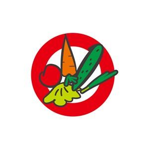 餐飲行業logo設計-彩色蔬菜圓形矢量logo圖標素材下載
