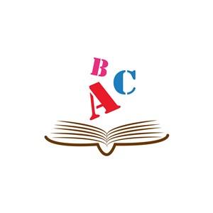 教育培训行业logo设计-彩色书本英文字母矢量logo图标素材下载
