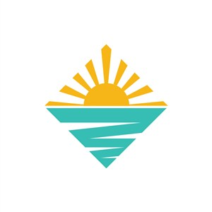 阳光海滩旅游图标logo设计素材