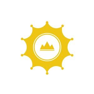 皇冠山水旅游酒店矢量logo元素设计