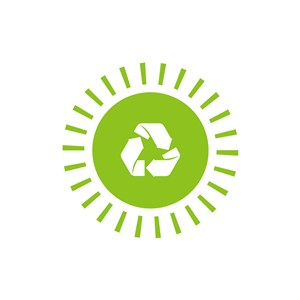 环保回收太阳矢量图logo素材