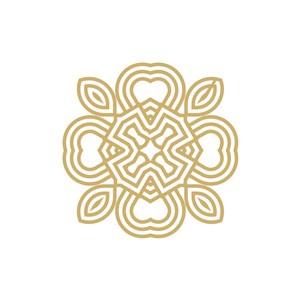 花纹服装女性化妆品珠宝相关矢量logo图标