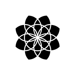 花瓣图案矢量logo图形