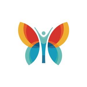 蝴蝶蜕变矢量标识logo素材