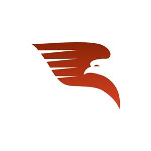 红色鹰翅膀矢量logo素材设计
