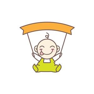 儿童服饰行业logo设计-彩色儿童矢量logo图标素材下载