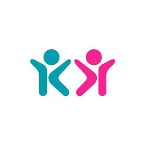 彩色儿童矢量logo图标素材下载