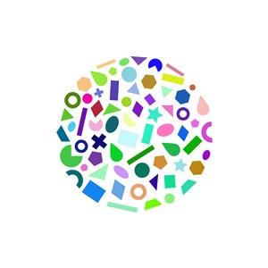 彩色创意设计相关矢量logo图标素材下载
