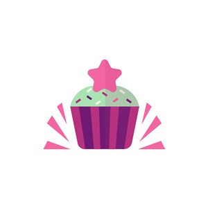 杯子蛋糕矢量图标志素材logo图标素材下载