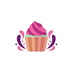 食品蛋糕logo设计-杯子蛋糕矢量图logo图标素材下载