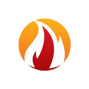 彩色火矢量logo图标素材下载
