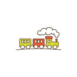 儿童玩具logo设计-彩色火车矢量logo图标素材下载