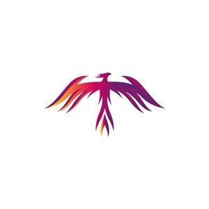 彩色凤凰矢量logo图标素材下载