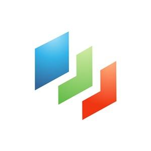 彩色方形矢量logo图标素材下载