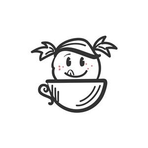 食品行業logo設計-彩色兒童咖啡矢量logo圖標素材下載