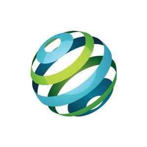 彩色地球矢量logo图标素材下载