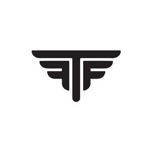 设计传媒logo设计--F字母翅膀飞翔logo图标素材下载