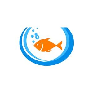 食品公司logo設計--魚logo圖標素材下載