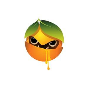 食品公司logo設計--邪惡橙子logo圖標素材下載