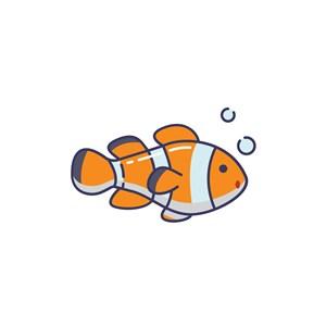 服饰时尚logo设计--小丑鱼logo图标素材下载