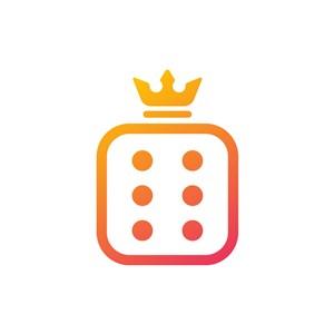 服饰时尚logo设计--骰子皇冠logo图标素材下载