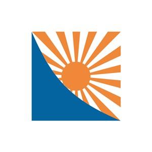 旅游公司logo设计--橙色太阳logo图标素材下载