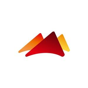 旅游公司logo设计--三角形山logo图标素材下载