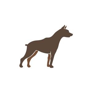 运动品牌logo设计--宠物赛犬logo图标素材下载