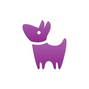 服饰时尚logo设计--宠物狗logo图标素材下载