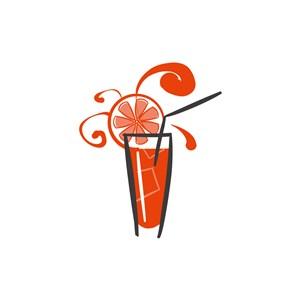 果汁公司logo設計--檸檬飲料圖標素材下載