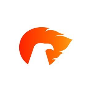 設計公司logo設計--老鷹火焰logo圖標素材下載