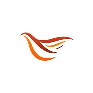 设计公司logo设计--抽象飞鸟logo图标素材下载