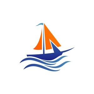 旅游公司logo设计--轮船帆船logo图标素材下载