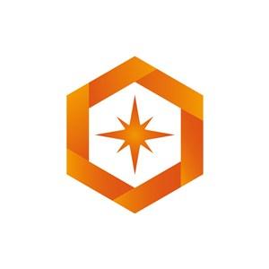 设计公司logo设计--六边形星星logo图标素材下载