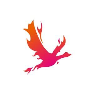 设计公司logo设计--火形飞鸟logo图标素材下载