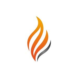 设计公司logo设计--渐变火logo图标素材下载