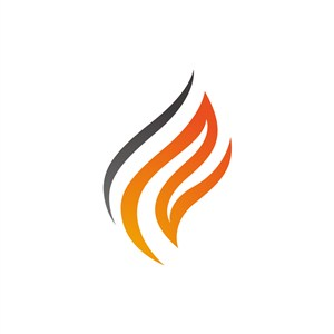 设计公司logo设计--橙色火logo图标素材下载
